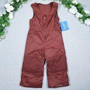 Columbia toddler boy brown bib snow pants/suit